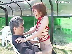 Outdoor Amateur Bondage